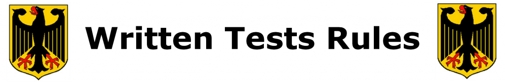 written tests rules